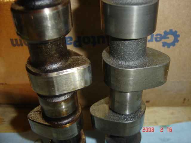 Stock Fox Camshaft compared to TT288.