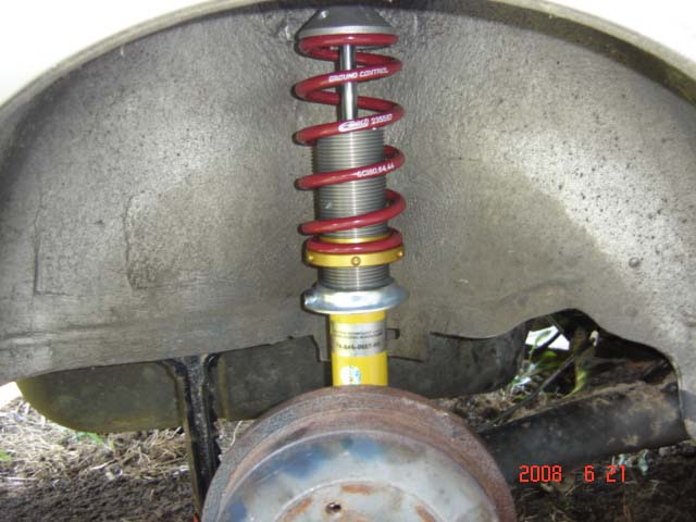 Coilover installed on Car 6/21/08.